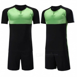 Mens-Quick-dry-Short-Sleeves-Soccer-Training-Suit-Breathable-Football-Sport-Clothes-For-Men-Jerseys-And-Shorts-BlackM