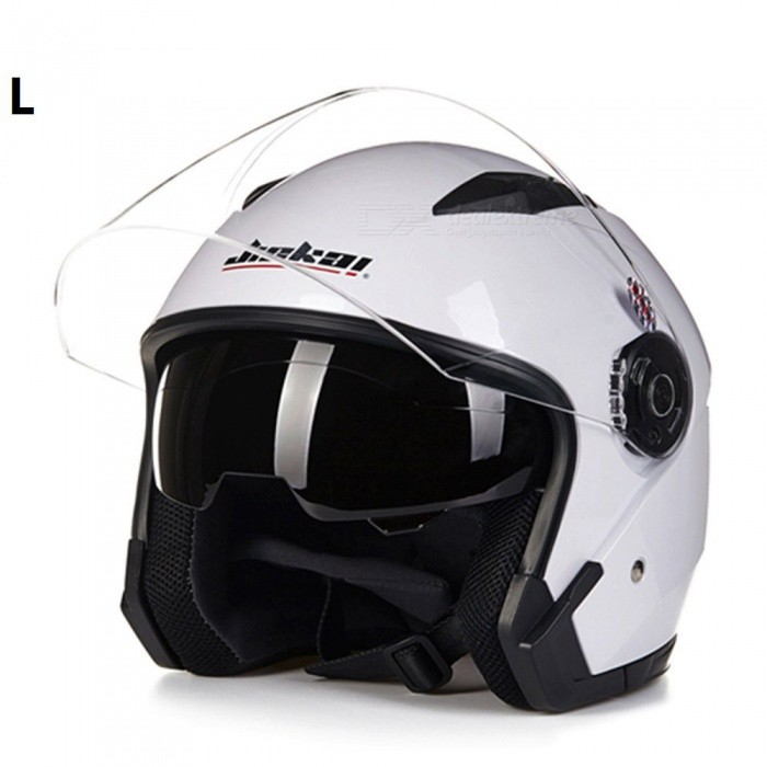 ZHAOYAO Vintage Motorcycle Open Face Helmet with Dual Lens Design