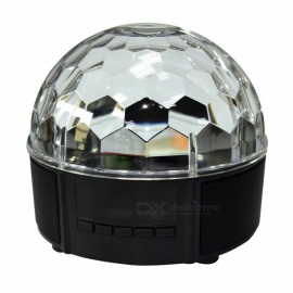 LED Music Crystal Magic Ball Light, MP3 USB Bluetooth Disco DJ Stage Light w/ Remote Control