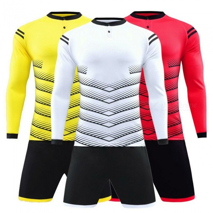 7557b364 Long Sleeve Team Soccer Uniforms, Football Jersey Soccer Kit, Football  Training Set Sports Suit For Adults Men Women White/M