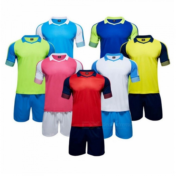 check out f1f30 1d2db Contrast Color Team Soccer Uniforms, Football Jerseys Soccer Kit, Football  Training Set Sports Suit For Men Women Pink/XXL
