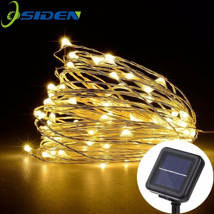 LED Solar String Lamp Fairy Christmas Lights 10m 100 LED Copper Wire Xmas Wedding Party Decor Lamp Garland Blue/0-5W