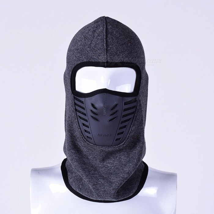 fd0bc3f6e56 Winter Warm Full Face Mask Hat Cover Windproof Thermal Fleece ...