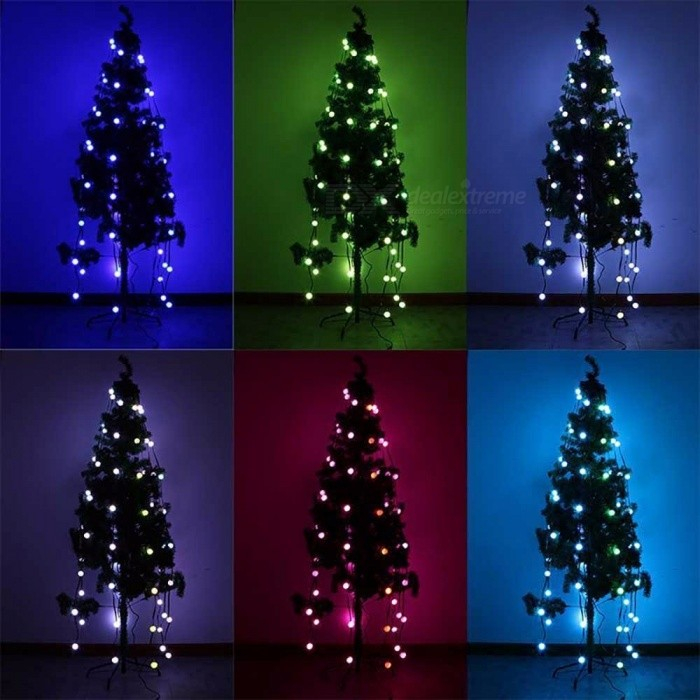 48 Bulbs LED Fairy String Lights Baby Home Decor Lighting For Holiday Party Christmas Tree Decoration US Plug RGB/0-5W