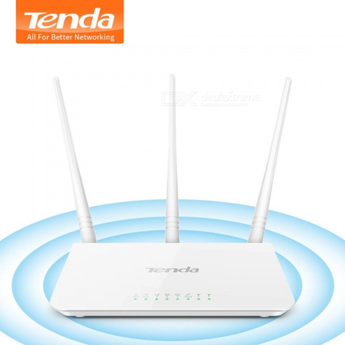 Tenda F3 300Mbps Wireless WiFi Router Wi-Fi Repeater, Multi Language Firmware,1WAN+3LAN Ports, Perfect for Small & Medium House