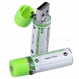 ESAMACT High Quality USB AA Battery ,1.2V 1450mAh NI-MH Rechargeable Battery w/ LED Charging Indicator Light
