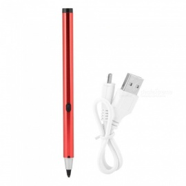 Capacitive Stylus Pen with Three Kind of Heads,Disc Stylus Support USB Charging for Mobile Phone Tablet