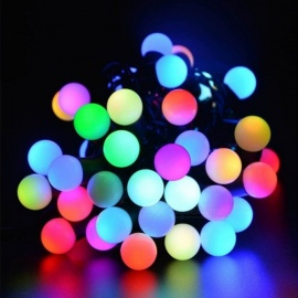 Waterproof Globe Starry Fairy String Light, 5m 50-LED Multi-Color Ball Lamp for Garden Party Wedding Christmas Holiday
