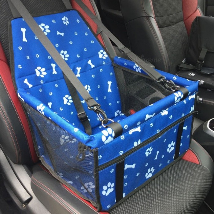Dual-Layer-Thickened-Pet-Dog-Car-Carrier-Mat-Mesh-Bag-Breathable-Waterproof-Printing-Travel-Car-Pad-Hanging-Bag-BlackM