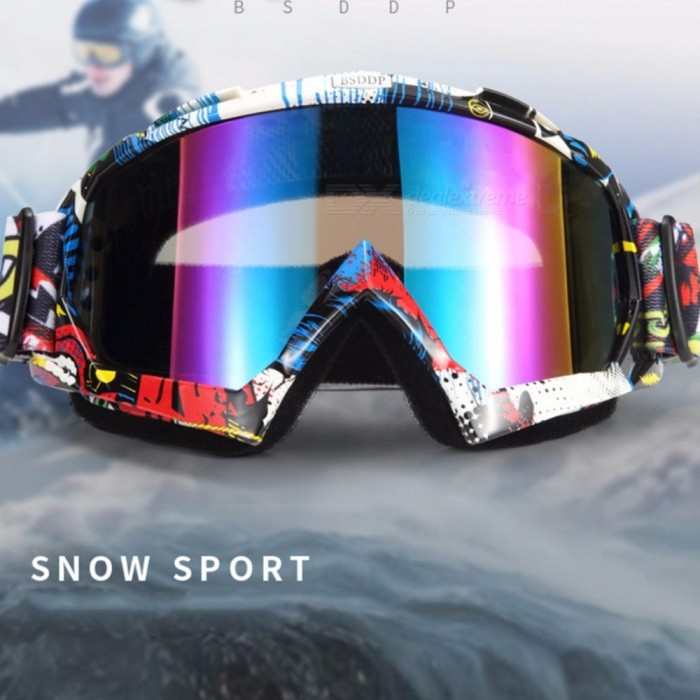 Windproof Skiing Glasses Goggles, Outdoor Sports Glasses, Sand-proof Dust-proof Motocross Cycling Sunglasses