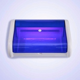 Professional-Portable-UV-Single-Layer-Ultraviolet-Sterilizer-Disinfection-Device-For-Nail-Art-Blue-US-Plug