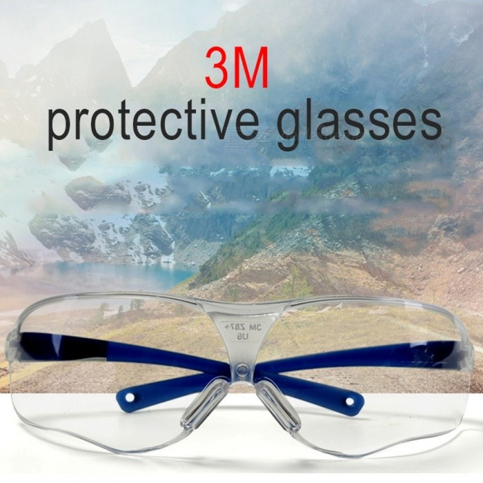 Anti-fog Windproof Skiing Glasses Goggles, Outdoor Sports Glasses, UV400 Dustproof Motocross Cycling Sunglasses Clear