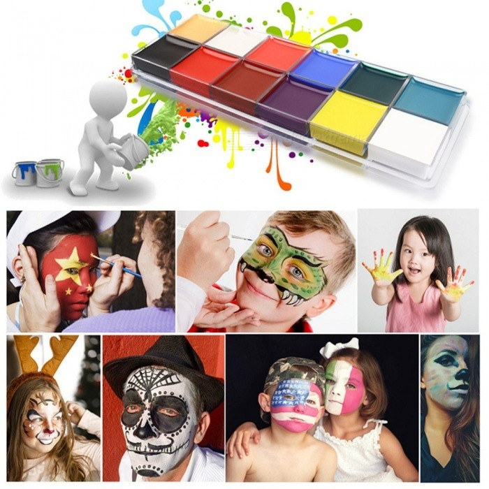 Halloween | Christmas | Painting | Picture | Devil | Party | Paint | Water | Color | Dress | Body | Face | Oil