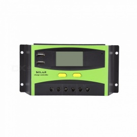 30A-12V-24V-Auto-Work-Solar-Charge-Controller-PWM-With-LCD-Display-Dual-USB-Solar-Cell-Panel-Charger-Regulator-Black