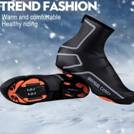 Riding-Cycling-Sport-Shoes-Cover-Thermal-Mountain-Bike-Waterproof-Windproof-Warm-Overshoes-Protector-BlackM