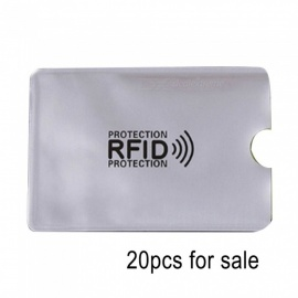 20 Pcs Anti-Scan Card Sleeve Credit RFID Protector Anti-magnetic Aluminum Foil Portable Bank Card Holder