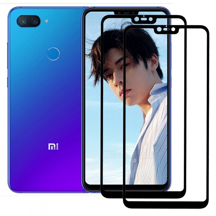 2pcs ASLING Full Cover Explosion-proof Screen Protectors for Xiaomi 8 Lite