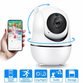 ESAMACT HD Cloud Wireless IP Camera, Intelligent Auto Tracking Home Security Surveillance CCTV Network Wi-Fi Camera