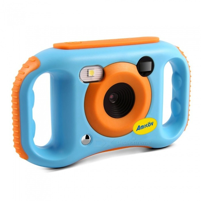 AMKOV CDE7 Portable Cute Wi-Fi Children\'s Camera With 1.77 Inches Color LCD Display Blue