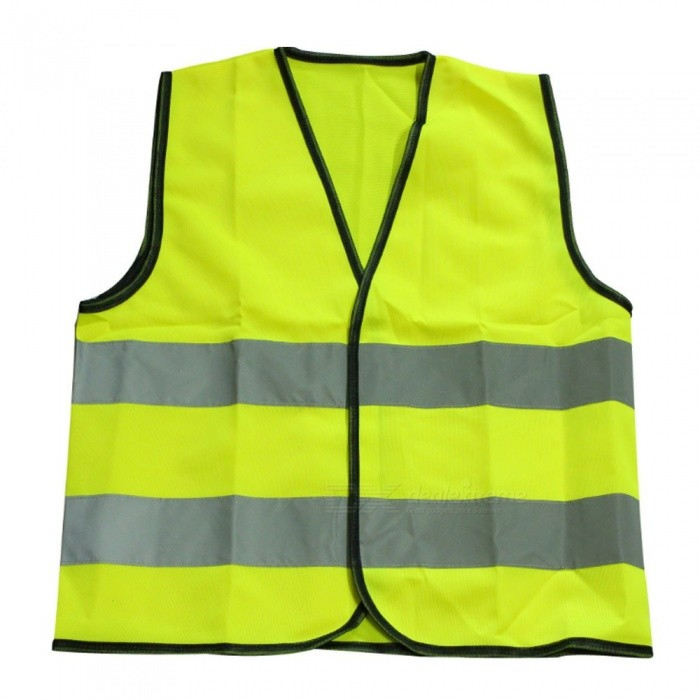 Kids Reflective Vest Warning High Visibility Fluorescent Jacket Waistcoat Traffic Safety Suit Green