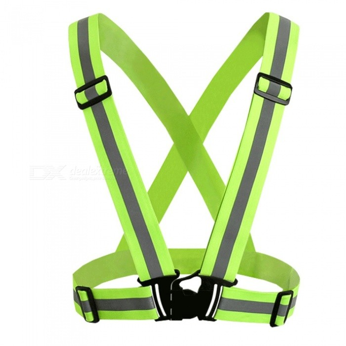 4cm Elastic High Visibility Neon Safety Vest Reflective Belt Fit For Running Cycling Sports Outdoor Clothes Black