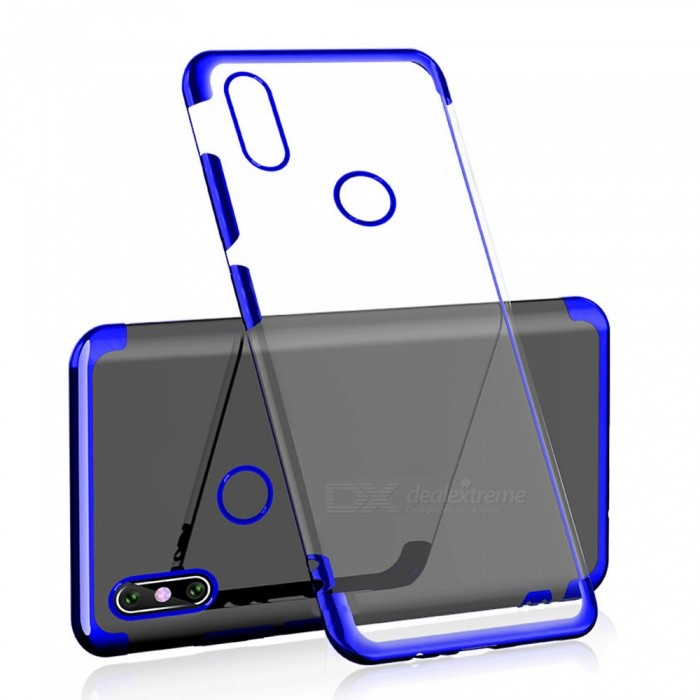 huge selection of aa7a7 b2f91 Transparent Slim Electroplate Plating TPU Back Case for Xiaomi Redmi Note 6  Pro - Blue