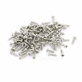 BTOOMET 200Pcs M1.4 x 5mm Stainless Steel Phillips Round Head Self Tapping Screws Bolts