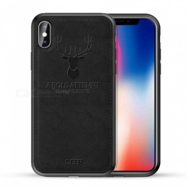 Cwxuan Elk Fashion Phone Case, TPU + Leather Phone Back Cover for IPHONE X / XS
