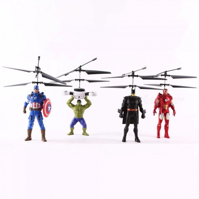 New Remote Control Batman The Avengers RC Helicopter, Creative Smart  Induction Flying Aircraft Toy For Kids Black