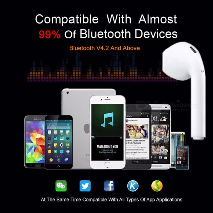 61fb8f4c969 ... Measy I9S TWS Wireless Earphone Portable Bluetooth Invisible Earbud for  IPhone X 8 7 Plus For