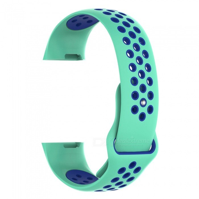 IMOS Replace Smart Bracelet Color Mixing Strap For Fitbit Charge3 - Cyan + Blue