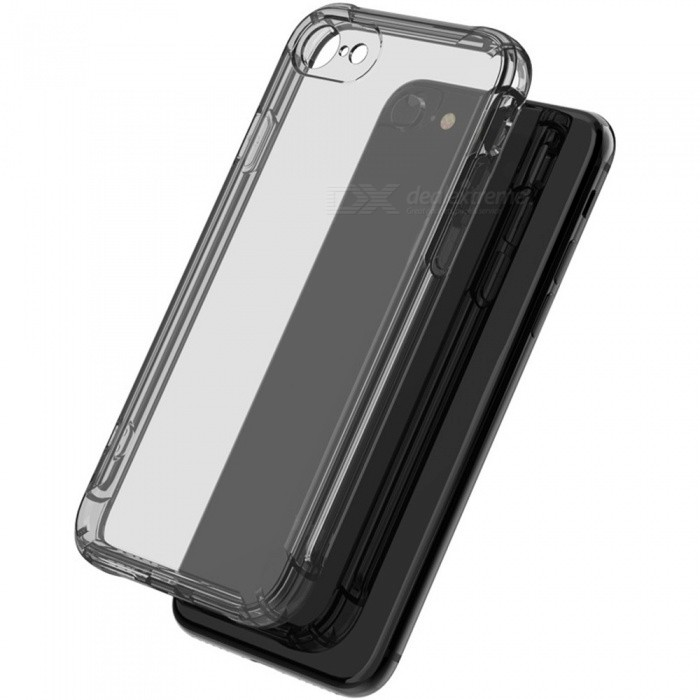 Mobile Phone Case Transparent Soft Silicone Soft Gasbag Anti Drop Cases For IPhone XS Max Black/IPHONE XR