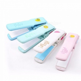 Mini Dry Wet Dual-use Straight Clip Cute Hair Curler Straightener 20w Electric Splint Random Color