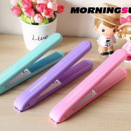 Electric Splint Hair Curler Straightener Curls Corn Rechargeable Fruit Color Roll Dry Wet Dual-use Clip Random Color