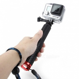 Aluminum Alloy Telescopic Selfie Stick, Self-Timer Rod For Gopro / Xiaoyi Action Video Camera Red