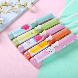 Portable Mini Cute Animal Pattern Electric Hair Curler Straightener, Curling Iron Splint For Girls Red/CN