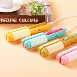 Portable Mini Cute Fruits Pattern Electric Hair Curler Straightener, Curling Iron Splint For Girls (Random Color) Random Color