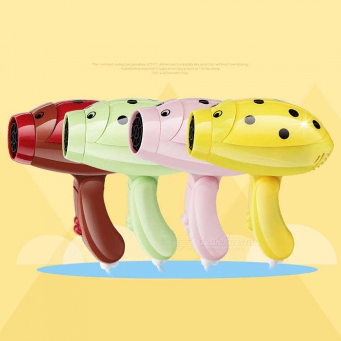 Buy Creative Fashion Portable Lightweight Folding Electric Hair Dryer Hair-styling Tool For Students Red with Litecoins with Free Shipping on Gipsybee.com