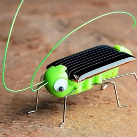 Novelty Kid Solar Energy Powered Cockroach, Power Robot Bug Grasshopper Educational Gadget Toy For Children Black