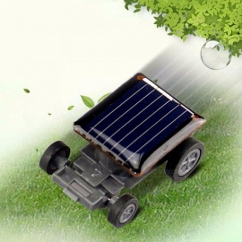 Mini Creative Solar Powered Toy Car Racer Educational Gadget Children Kid\'s Toy Black