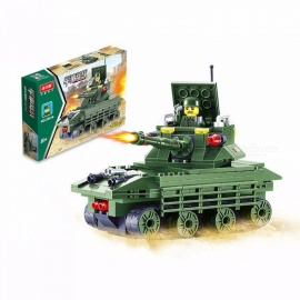 Plastic Military Vehicle Troop Mini Building Blocks, DIY Assembly Toy For Children Kids Light Green