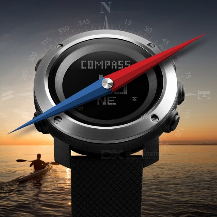 SKMEI Waterproof Round Dial Sports Digital Wristwatch Men's Watch With Pedometer Compass 5-Group Alarm Clock 1431