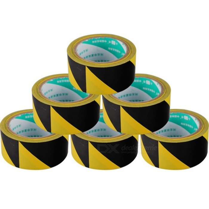 Durable Quality 33m * 48mm Black And Yellow Self Adhesive Hazard Warning Safety PVC Tapes Marking Safety Yellow
