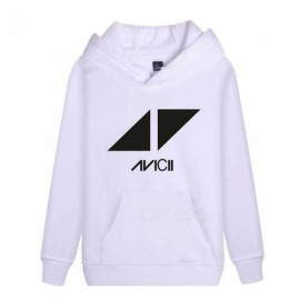 Autumn Winter Unisex Hooded Hoodies Long Sleeve Loose Sweden Famous DJ AVICII Sweatshirts Black/M