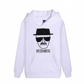 Autumn Winter Unisex Hooded Hoodies Long Sleeve Loose 3D Print BreakingBad Sweatshirts Black/M