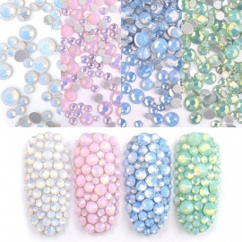 Shiny Crystal Nail Rhinestone Silver Flat Back Stone 3D Glitter Jewelry Glass Charm A Diamond Nail Art Decoration White