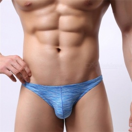 Men\'s Underwear Seamless Breathable Summer Ice Briefs Green/XXL