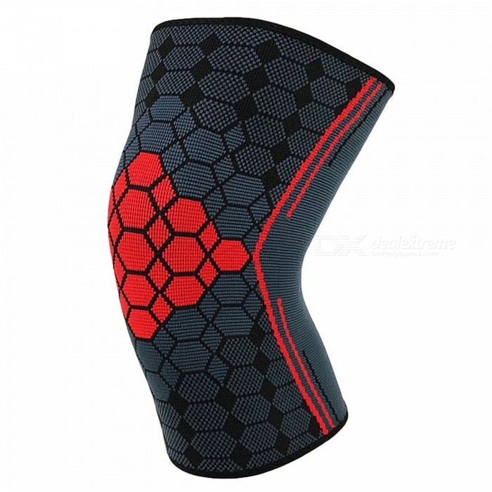 e1882691c685af ... 1 PC Stretch Jacquard Knee Pad, Quick-dry Breathable Knee Compression  Sleeve For Basketball ...