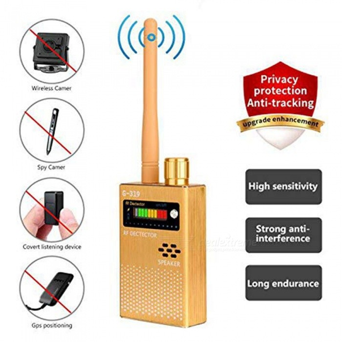 G319 Euro-gauge Radio Frequency Signal Detector Group [Upgraded Enhanced] Bug GPS Camera Signal Detector for Detecting Hidden