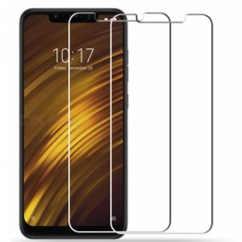 2Pcs 0.26mm 9H Tempered Glass Screen Protector for Xiaomi Pocophone F1